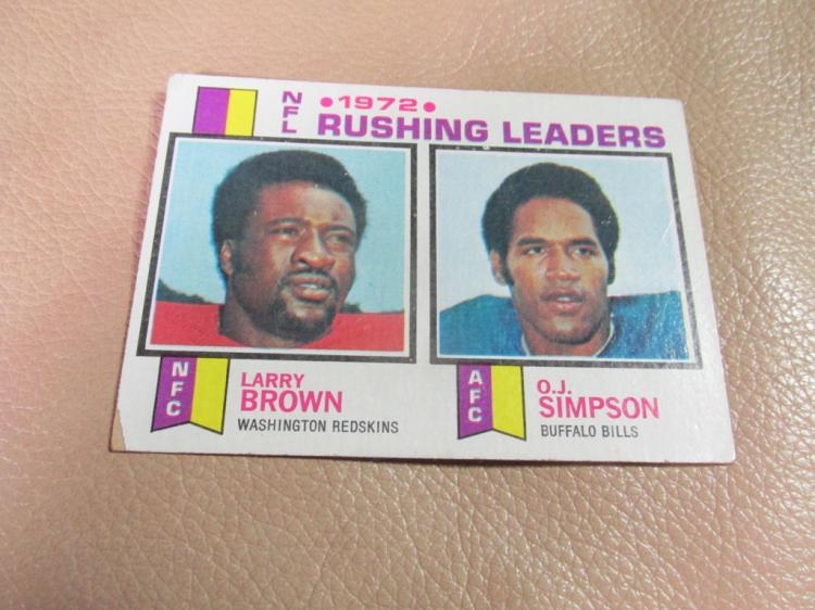 NFL rushing leaders card #1