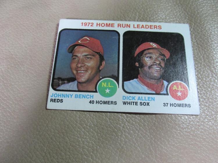 Home run leaders card #62