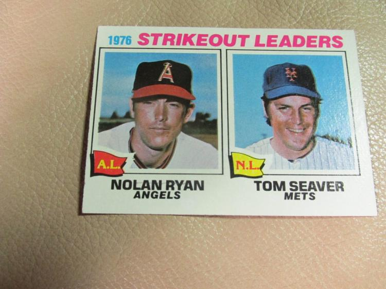 Strike out leaders card #6