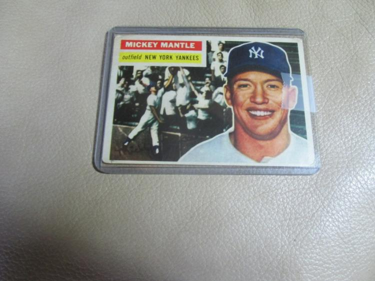 1956 Mickey Mantle card #135