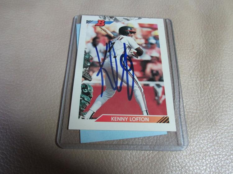 Kenny Lofton card autographed #110
