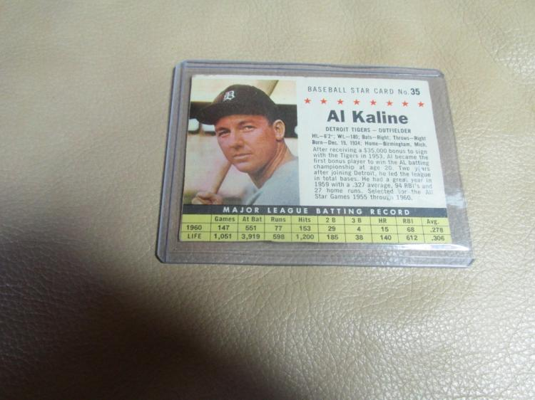 Al Kaline post #35 cutout card