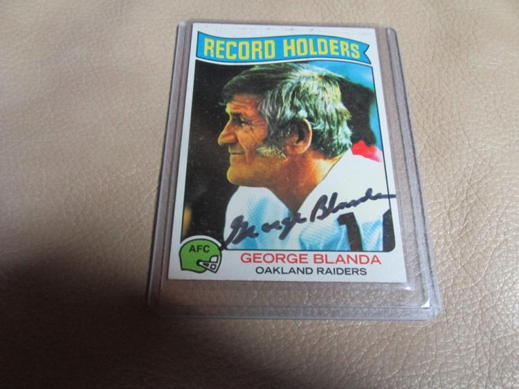 George Blanda autographed card