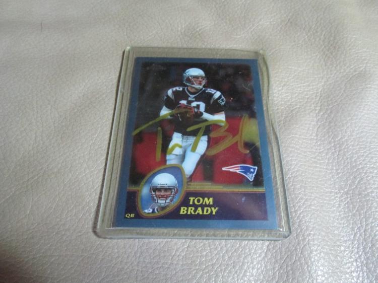 Tom Brady autographed card #124