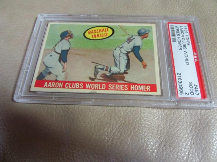 Hank Aaron card #467