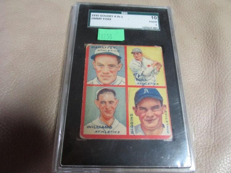 1935 4 in 1 card Mahaffey,Foxx,Williams,Higgins