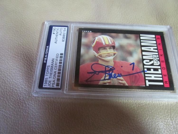 Joe Theismann autographed card