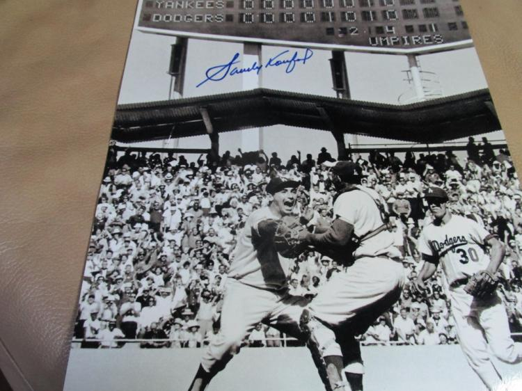 Sandy Koufax autographed photo