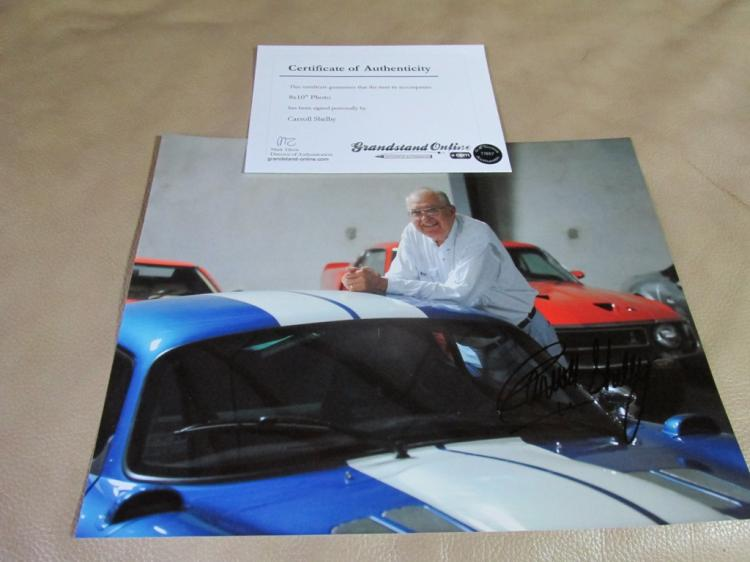 Carroll Shelby autographed photo