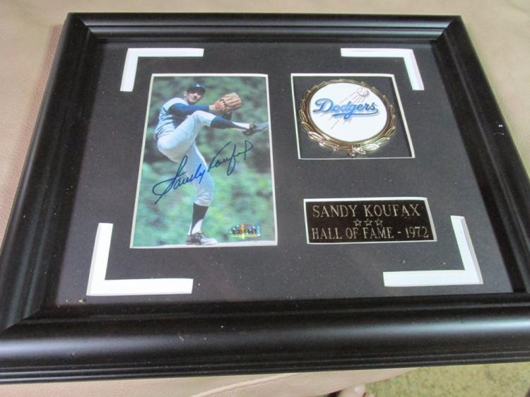 Sandy Koufax autographed display