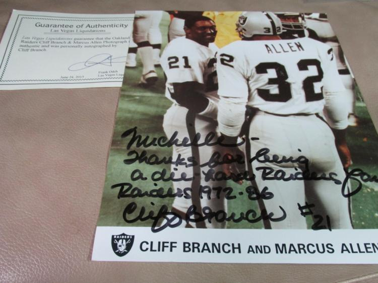 Cliff Branch autographed photo