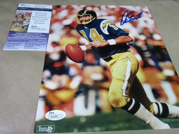 Dan Fouts autographed photo