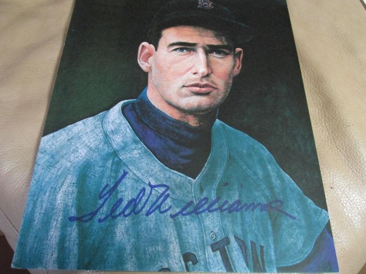 Ted Williams signed in heavy marker autographed photo
