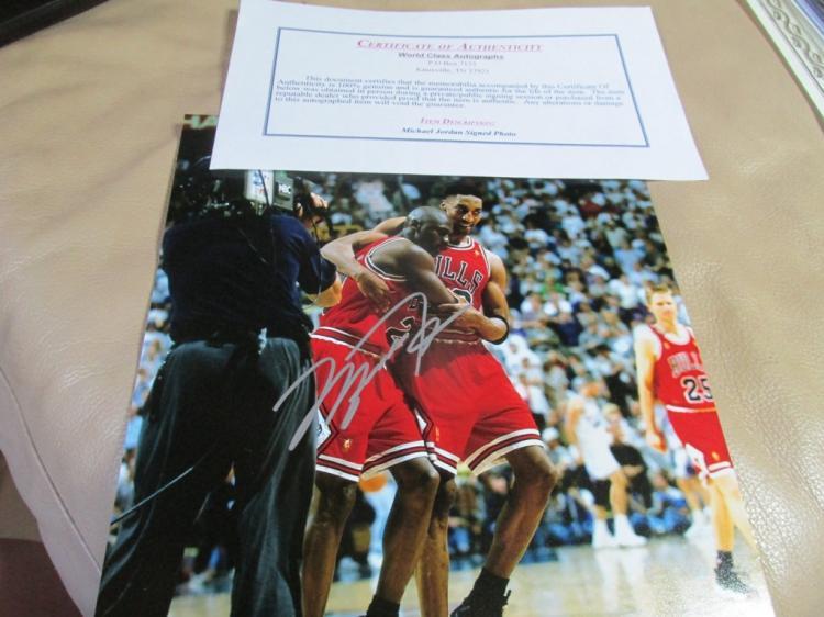 Michael Jordan autographed photo