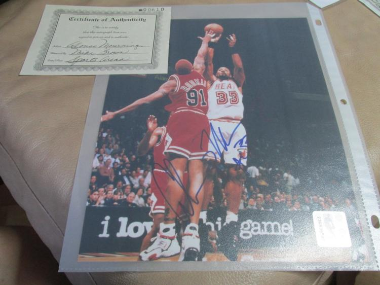 Alonzo Mourning autographed photo