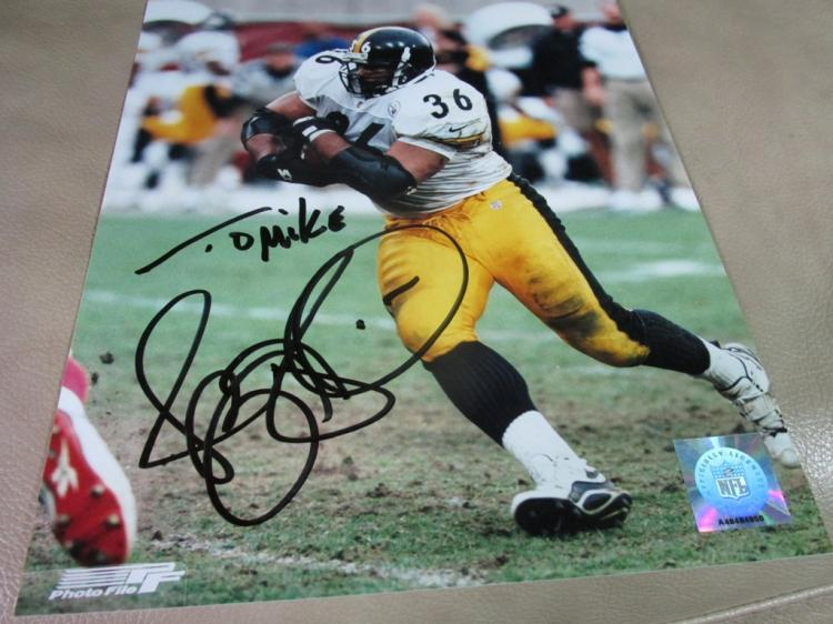 Jerome Bettis autographed photo