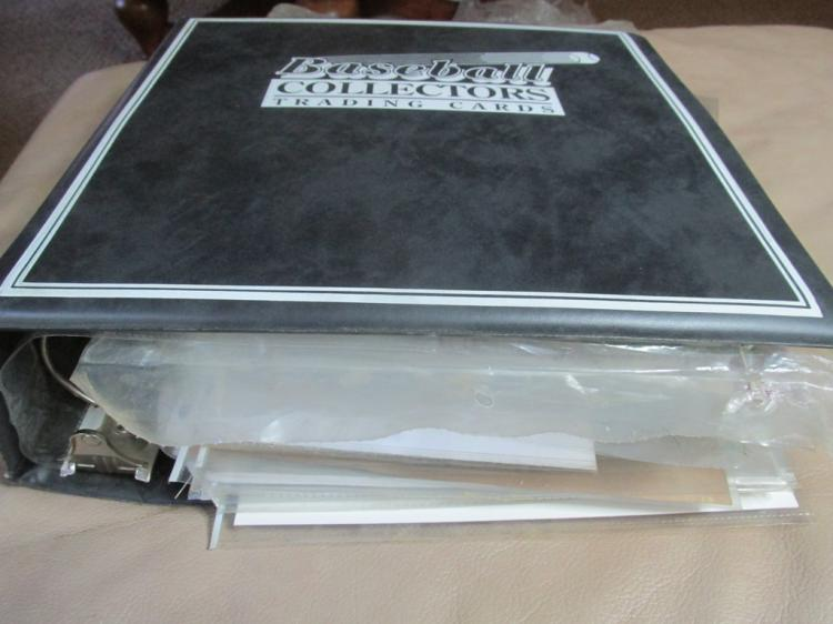 Binder full of Yankees memorabilia