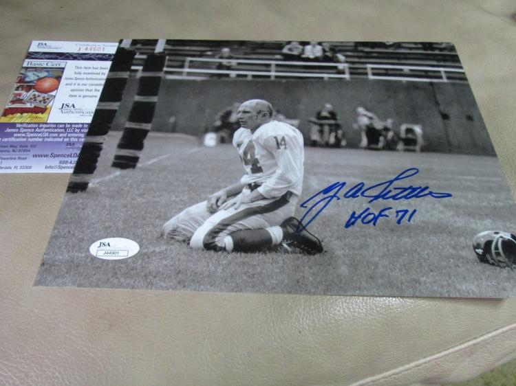 Y A Tittle autographed photo