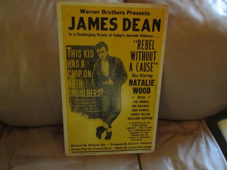 Old James Dean poster