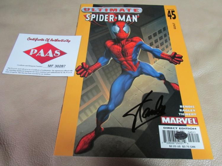 Stan Lee Autographed Spider-man comic book