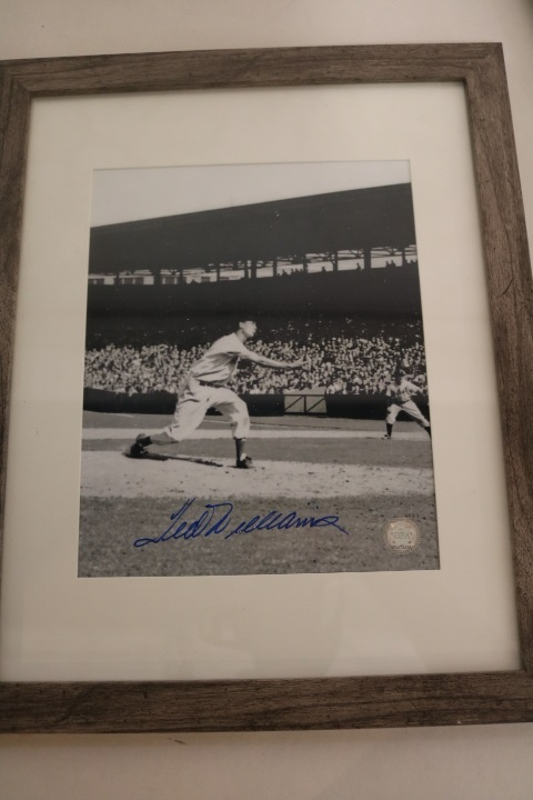 Rare Ted Williams Autographed photo Pitching