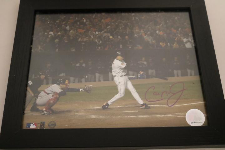 Cal Ripken Jr Framed Autographed photo