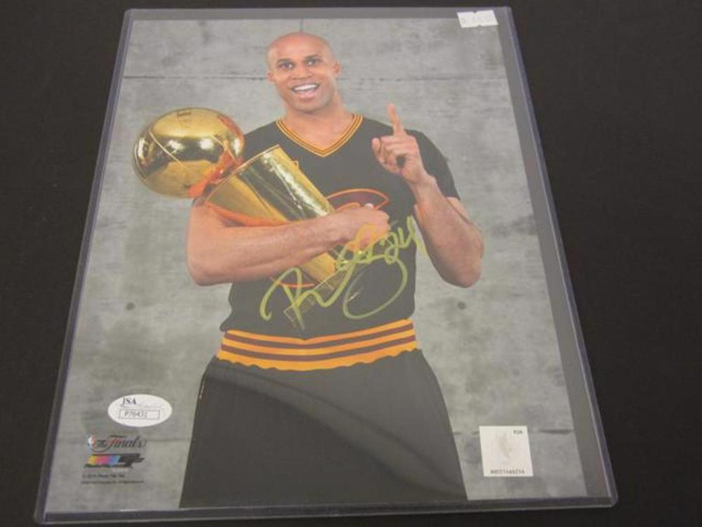 dcbafbca3ae Richard Jefferson Cleveland Cavaliers signed Championship 8x10 photo JSA  Ceritified COA