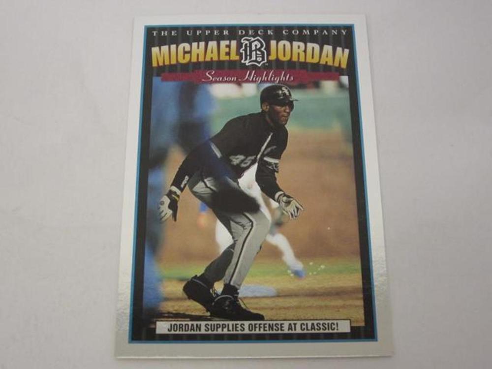 a690cbce1ef Michael Jordan Birmingham Barons Chicago White Sox 1994 Upper Deck 4x6  baseball card