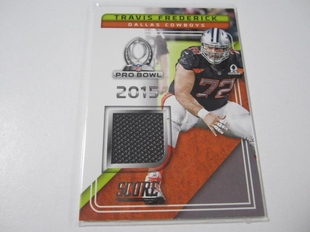 2017 PANINI FOOTBALL TRAVIS FREDERICK PIECE OF GAME USED JERSEY CARD
