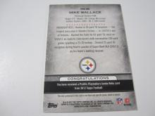 Lot 3: 2012 TOPPS FOOTBALL MIKE WALLACE PIECE OF GAME USED JERSEY CARD 5/20