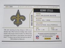 Lot 12: 2013 PANINI FOOTBALL KENNY STILLS SIGNED AUTOGRAPHED SAINTS CARD