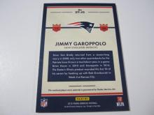 Lot 7: 2015 PANINI JIMMY GAROPPOLO PIECE OF GAME USED PATRIOTS JERSEY CARD