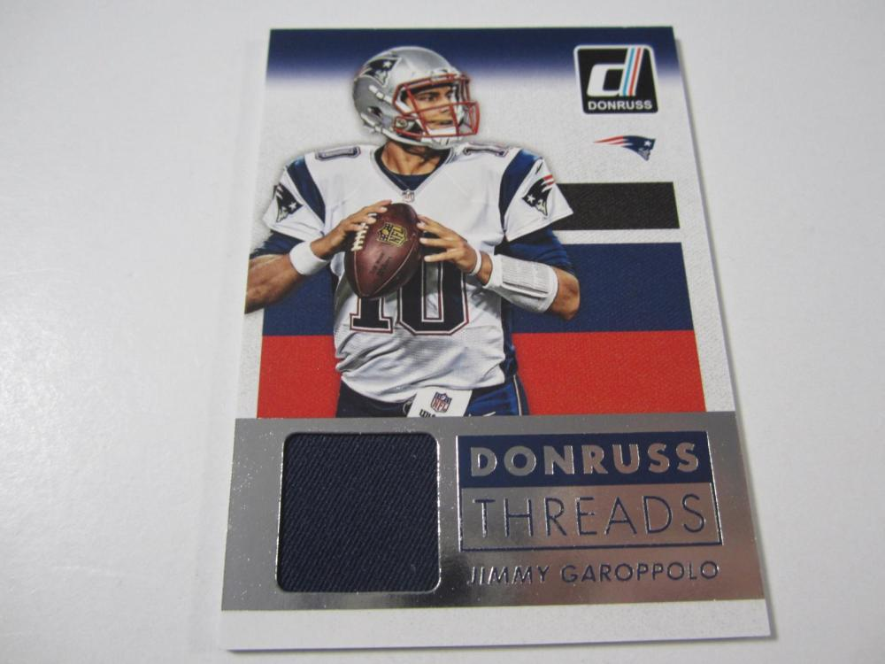 2015 PANINI JIMMY GAROPPOLO PIECE OF GAME USED PATRIOTS JERSEY CARD