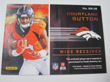 Lot 19: 2018 PANINI FOOTBALL COURTLAND SUTTON PIECE OF GAME USED BRONCOS JERSEY CARD