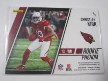Lot 25: 2018 PANINI FOOTBALL CHRISTIAN KIRK PIECE OF GAME USED CARDINALS JERSEY CARD
