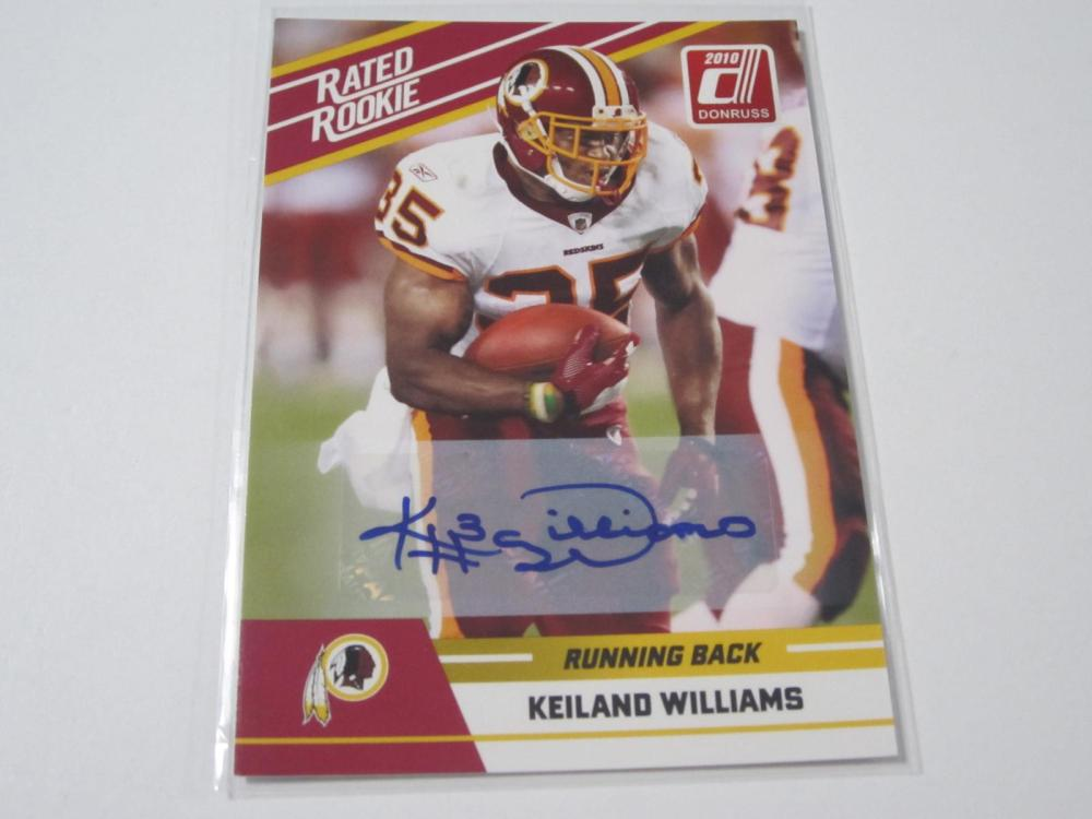 2010 PANINI FOOTBALL KEILAND WILLIAMS SIGNED AUTOGRAPHED REDSKINS CARD