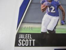 Lot 16: 2018 PANINI FOOTBALL JALEEL SCOTT PIECE OF GAME USED RAVENS CARD