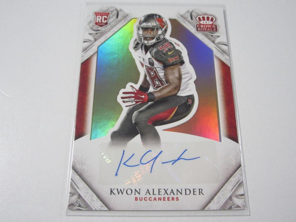 2015 PANINI CROWN ROYAL KWON ALEXANDER SIGNED AUTOGRAPHED TAMPA BAY CARD 39/49
