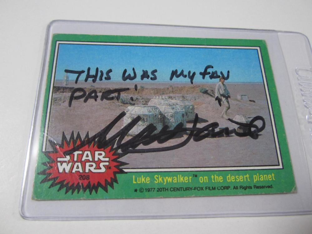 MARK HAMILL SIGNED AUTOGRAPHED STAR WARS CARD COA