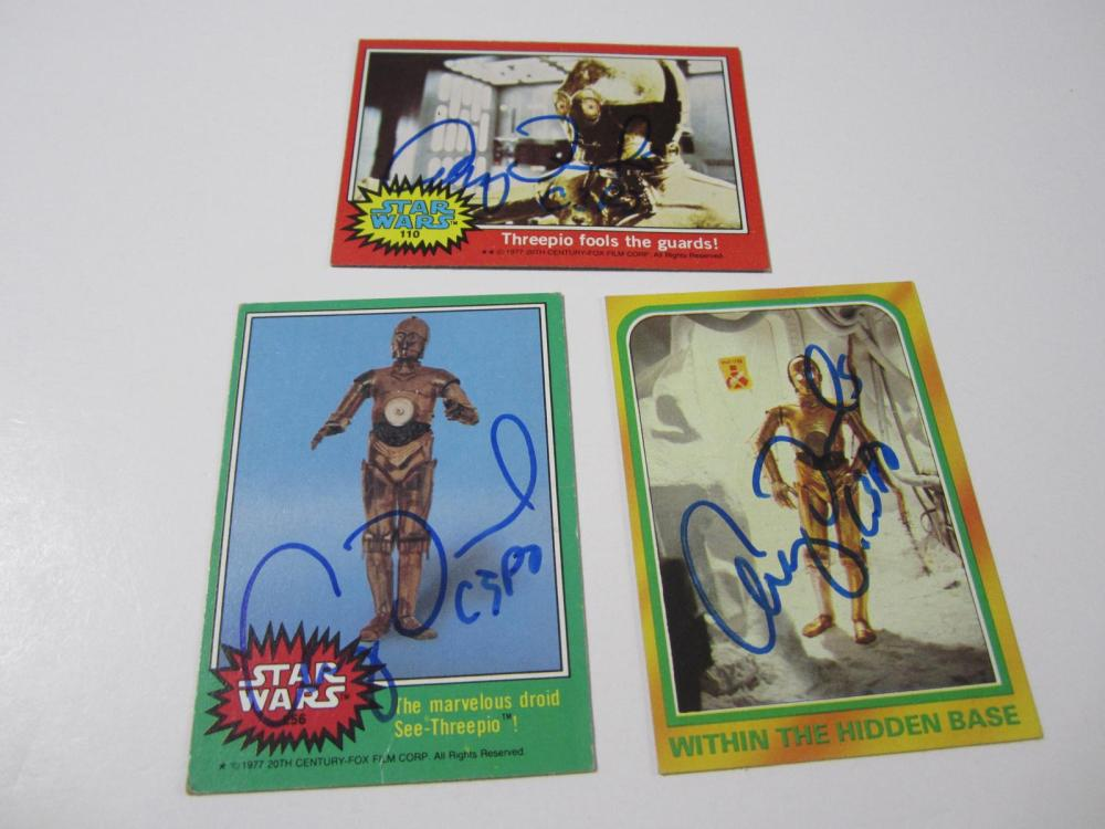 (3)ANTHONY DANIALS SIGNED AUTOGRAPHED STAR WARS CARD COA