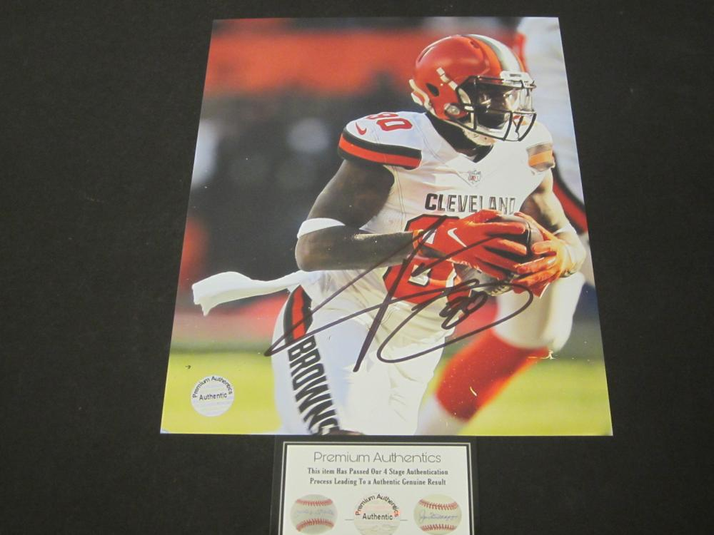 JARVIS LANDRY SIGNED AUTOGRAPHED BROWNS 8X10 COA