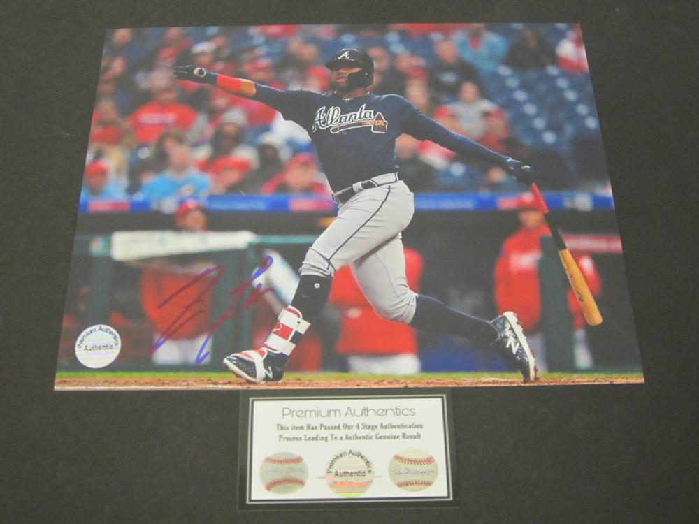 RONALD ACUNA JR. SIGNED AUTOGRAPHED BRAVES 8X10 COA