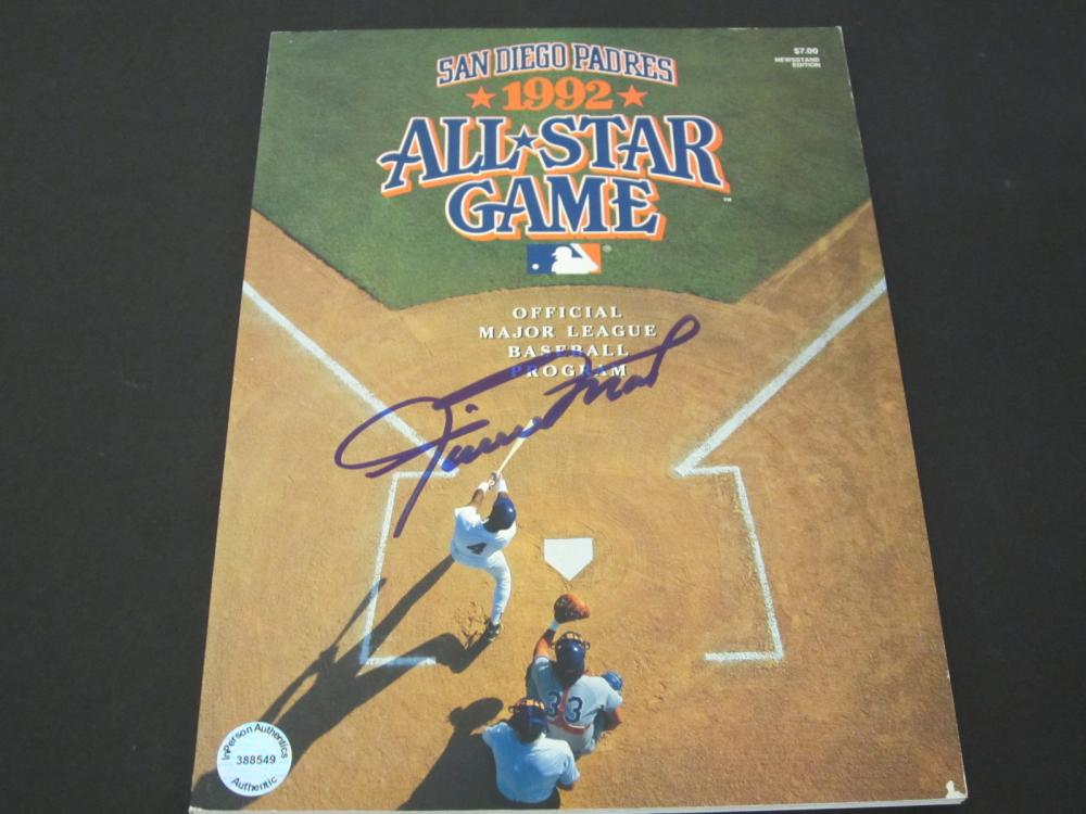 WILLIE MAYS SIGNED AUTOGRAPHED ALL STAR GAME PROGRAM COA