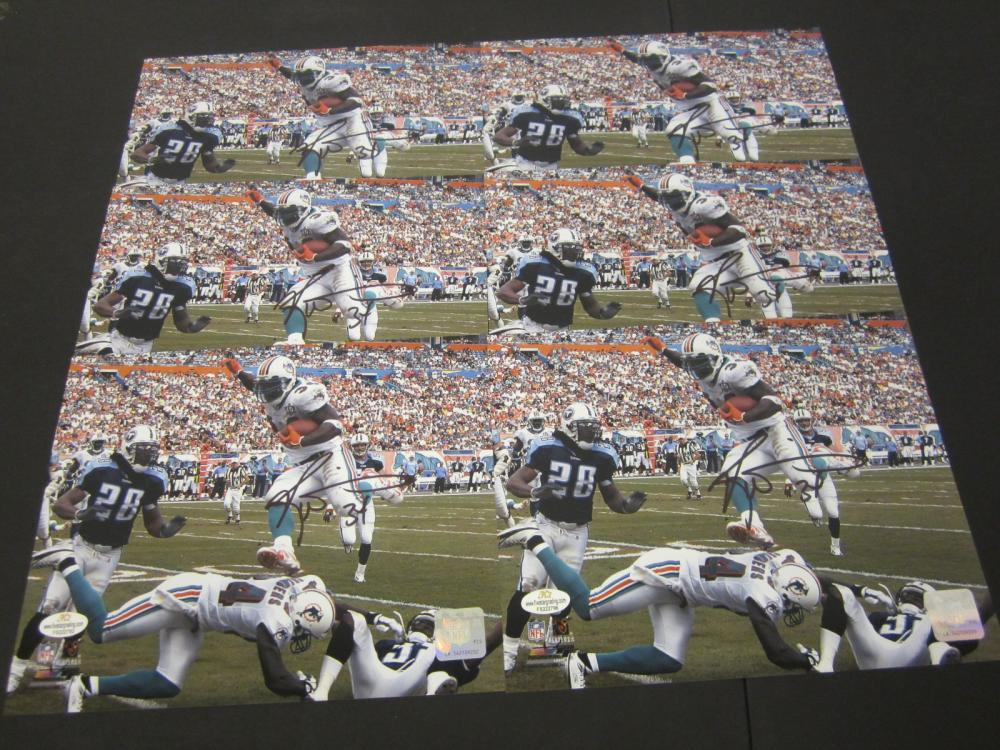 (6)RICKEY WILLIAMS SIGNED AUTOGRAPHED DOLPHINS 8X10 COA