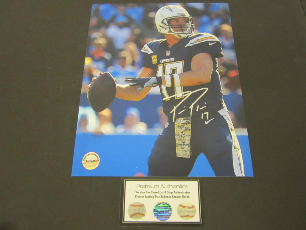 Lot 83: PHILLIP RIVERS SIGNED AUTOGRAPHED CHARGERS 8X10 COA