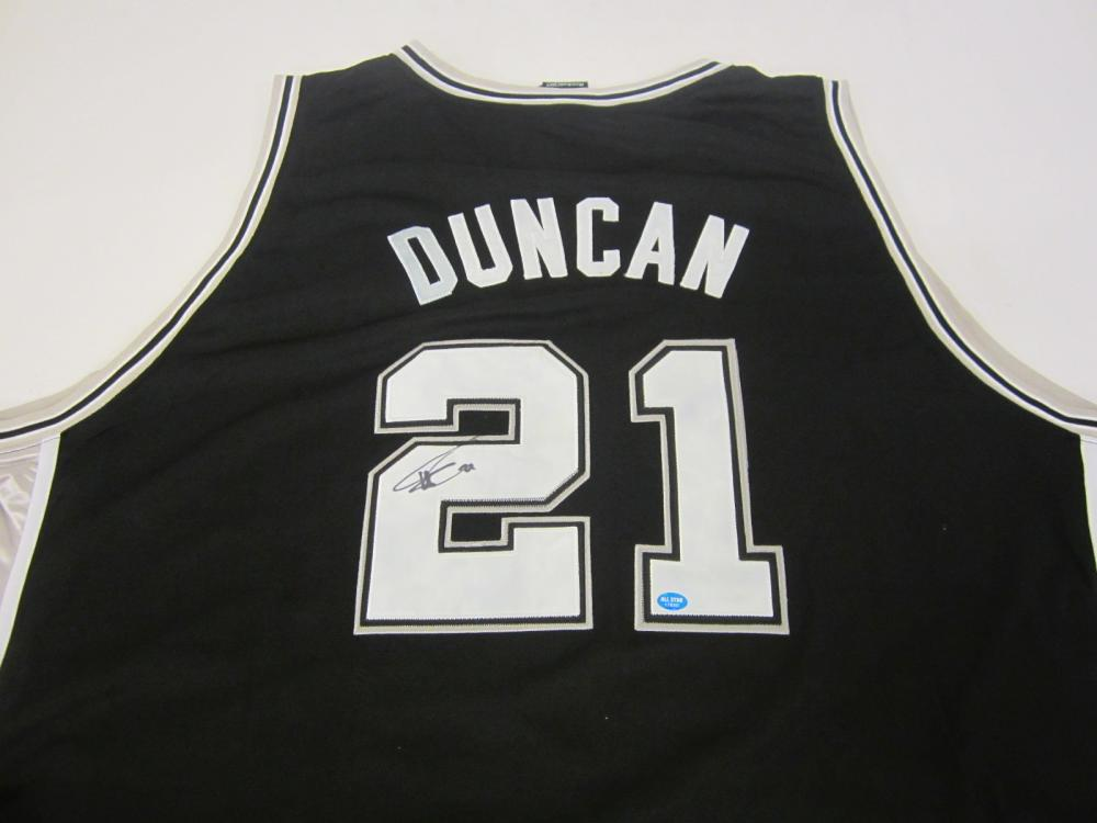 Lot 93: TIM DUNCAN SIGNED AUTOGRAPHED SPURS JERSEY COA