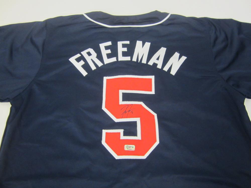 FREDDIE FREEMAN SIGNED AUTOGRAPHED BRAVES JERSEY COA