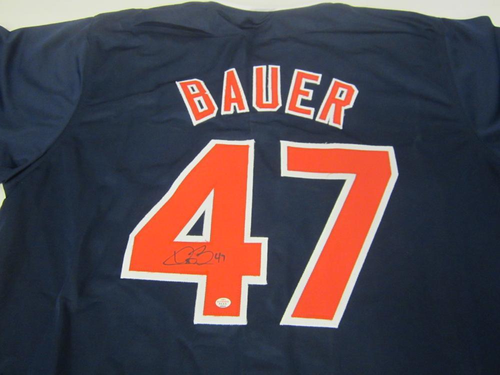 TREVOR BAUER SIGNED AUTOGRAPHED INDIANS JERSEY PAAS COA