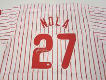 Lot 103: AARON NOLA SIGNED AUTOGRAPHED PHILLIES JERSEY COA