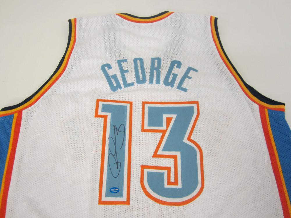Lot 98: PAUL GEORGE SIGNED AUTOGRAPHED THUNDER JERSEY COA